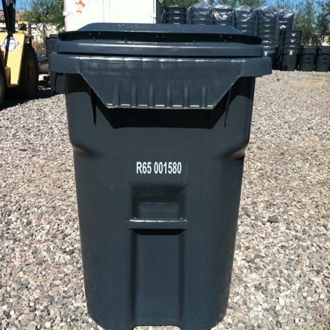Trash container for garbage collection by Taylor Waste